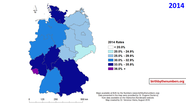 Cesarean Birth Trends (1994 – 2013) in Germany