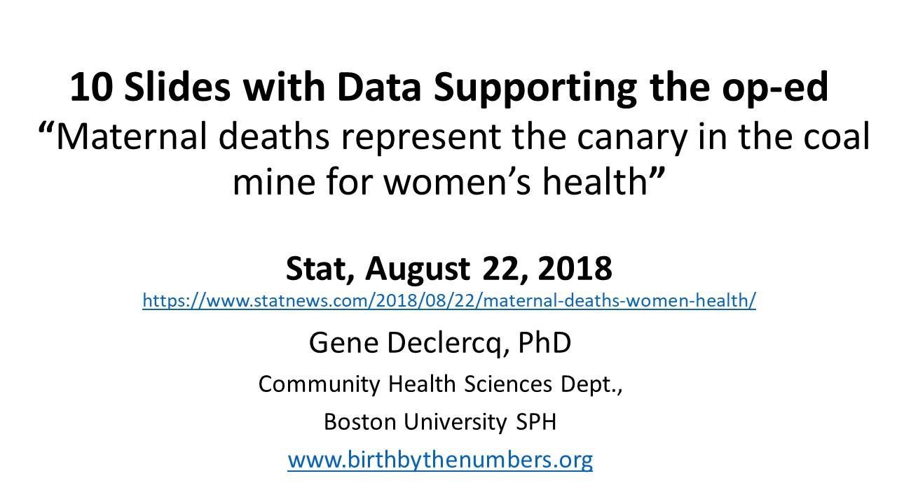 "Data Supporting ""The Dying Mother in a Coal Mine"""